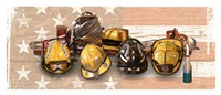 "Firefighters Stand Tall by Jim Baldwin - 37"" x 16"""