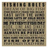 Fishing Rules Framed Print