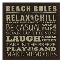 Beach Rules (square) Fine Art Print