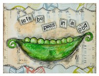 "Let's Be Peas by Denise Braun - 34"" x 26"""