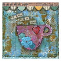 "Morning Cup of Love by Denise Braun - 26"" x 26"""