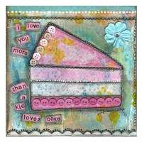 "I Love You More by Denise Braun - 26"" x 26"""