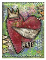 "Love Heart by Denise Braun - 26"" x 34"""