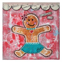 "Gingerbread Love by Denise Braun - 26"" x 26"" - $29.99"