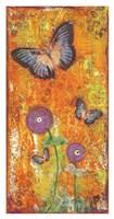 "Violet Flutters by Cassandra Cushman - 20"" x 38"""