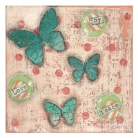 Joy Love Peace Butterflies Fine Art Print