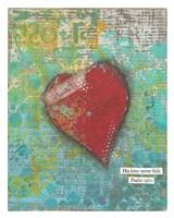 Trust Heart Framed Print