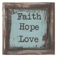 "Faith Hope Love by Cassandra Cushman - 26"" x 26"", FulcrumGallery.com brand"