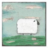 "Hope Sheep by Cassandra Cushman - 26"" x 26"""