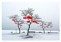 Red Umbrellas Fine Art Print