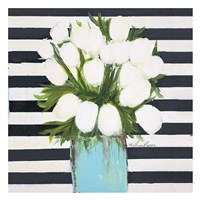 """White Tulips by Melissa Lyons - 26"""" x 26"""""""