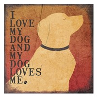"Dog Loves by Jo Moulton - 26"" x 26"" - $29.99"