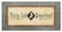 """Missing Sock Department by Jo Moulton - 38"""" x 20"""""""