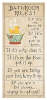 "Family Bathroom Rules by Jo Moulton - 20"" x 42"""