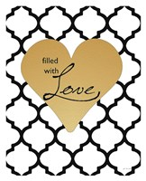 Faux Gold Filled with Love Framed Print