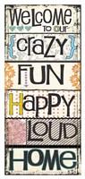 "Welcome by Jo Moulton - 20"" x 42"" - $37.49"
