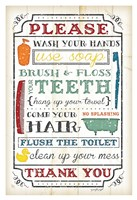 Bathroom Rules Fine Art Print