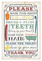 """Bathroom Rules by Jennifer Pugh - 26"""" x 38"""" - $41.99"""