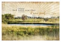 "And God Saw that It Was Good by Jennifer Pugh - 38"" x 26"""