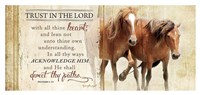 Trust in the Lord (Horses) Fine Art Print