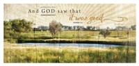 And God Saw that It Was Good Fine Art Print