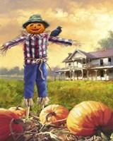 Halloween Scarecrow Framed Print