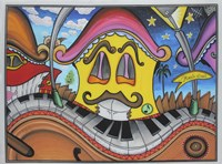 Music Street by Martin Nasim - various sizes, FulcrumGallery.com brand