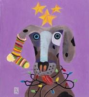 Christmas Dog Fine Art Print