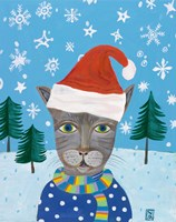 Holiday Cat Fine Art Print
