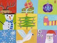 Nine Christmas Squares Fine Art Print