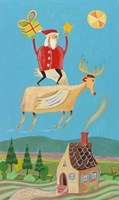 Santa And Red Fine Art Print