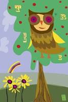 Owl In Tree Fine Art Print