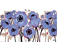 Blue Blooms by Natasha Wescoat - various sizes, FulcrumGallery.com brand