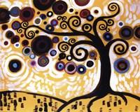 Tree Whimsy On Orange by Natasha Wescoat - various sizes