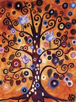Tree Whimsy And Blue Birds by Natasha Wescoat - various sizes