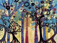 Tree Whimsy In Blud Forest Fine Art Print