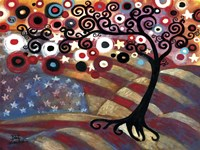 Tree Whimsy On Us Flag by Natasha Wescoat - various sizes