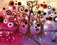 Tree Whimsy On Pink by Natasha Wescoat - various sizes