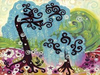 Blue Weeping Willow Whimsy I by Natasha Wescoat - various sizes