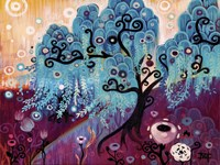 Blue Weeping Willow Whimsy Ii Fine Art Print