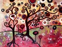 Swirling Tree Whimsy by Natasha Wescoat - various sizes, FulcrumGallery.com brand