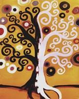 Dual Tree On Orange by Natasha Wescoat - various sizes