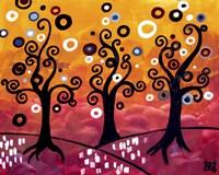 Swirling Trees And Magenta by Natasha Wescoat - various sizes
