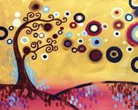 Swirling Trees Peach Sky by Natasha Wescoat - various sizes