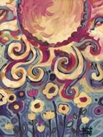 Sun And Flower Whimsy Fine Art Print