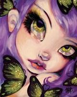 Green Eyed Violet by Natasha Wescoat - various sizes, FulcrumGallery.com brand
