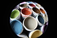 Color Cups & Tape 13 Fine Art Print