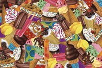 Ice Cream Collage Fine Art Print