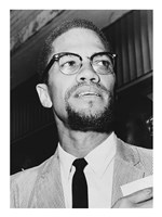 Malcolm X at Queens Court Fine Art Print