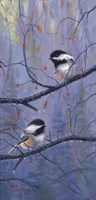 Pair of Chickadees Fine Art Print